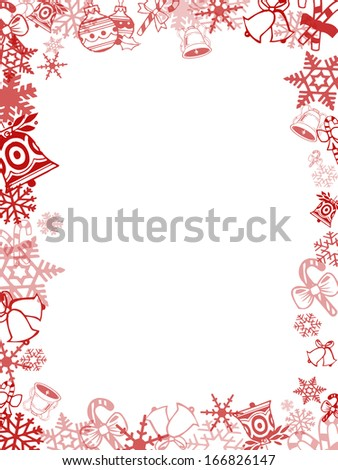 Red Christmas card frame and background #166826147