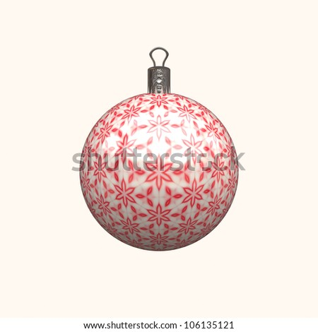 red christmas decoration