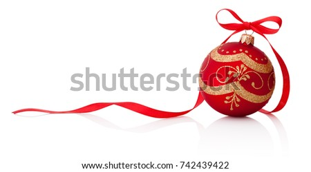 red christmas decoration bauble ...