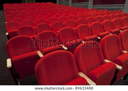 red cinema or theater empty seats #89633488