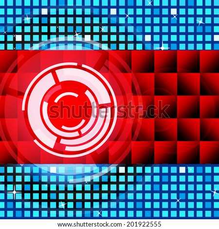 Red Circles Background Meaning Record And LP Disc