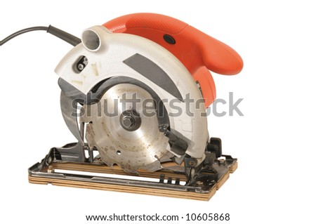 red circular saw with clipping path