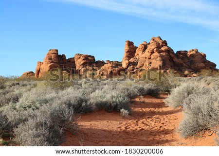 Red Cliffs at Red Cliffs National Conservation area, St George, Utah Stock photo ©