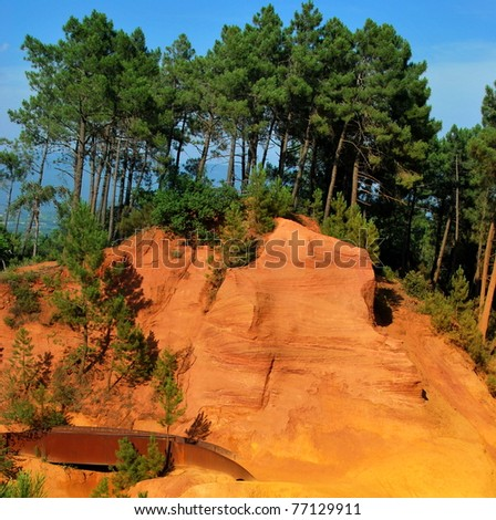 Red Cliffs in Roussillon, Provence/France
