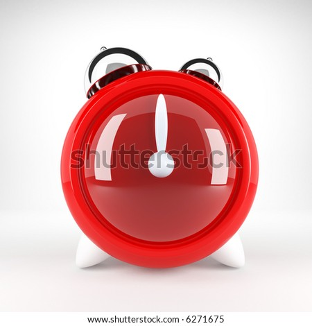 Red clock - stock photo