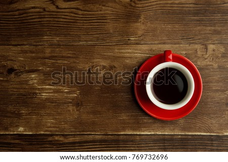 Red coffe cup #769732696