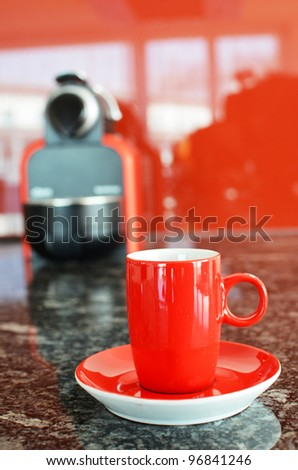 Red coffee set