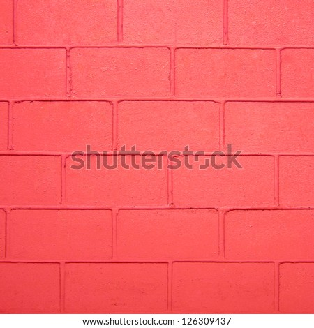 red color brick wall