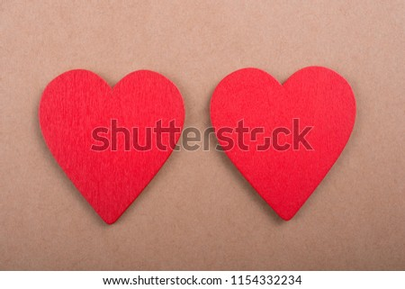 Red color heart shaped object in the view