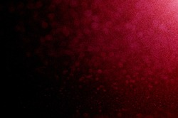 Red color texture with light. Red glitter and gradient color design or abstract background.