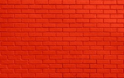 Red colored brick wall. Brickwall texture background