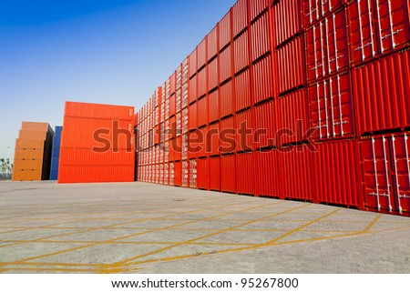 Red container blocks