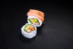red, cooking, plate, seaweed, seafood, roll, tasty, raw, healthy, rice, fish, traditional, cuisine, white, japan, japanese, salmon, restaurant, dinner, fresh, delicious, gourmet, background, sushi res