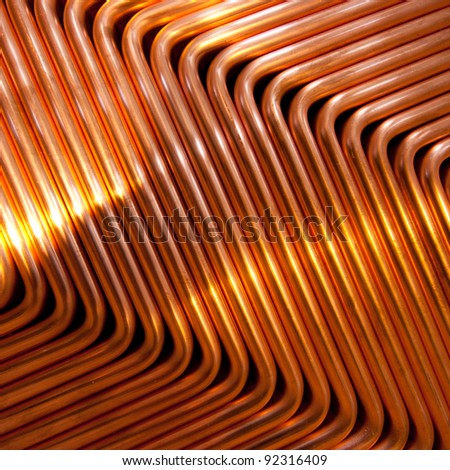 Red copper pattern