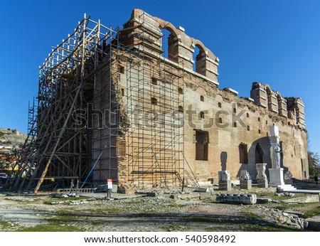 Red courtyard basilica Stok fotoğraf ©