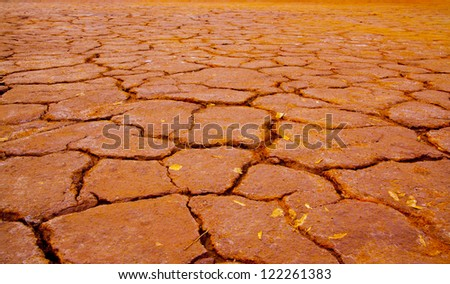 red Cracked Earth - industrial waste