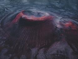 Red crater of Landmannalaugar, Iceland