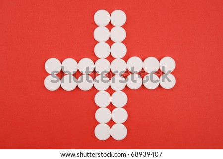 Red Cross combined from white tablets