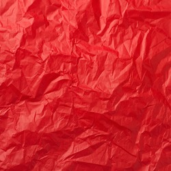 Red crumpled paper for background