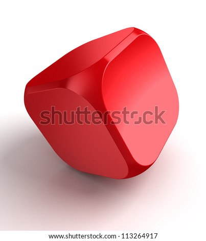 red cube dice on white background.clipping path included