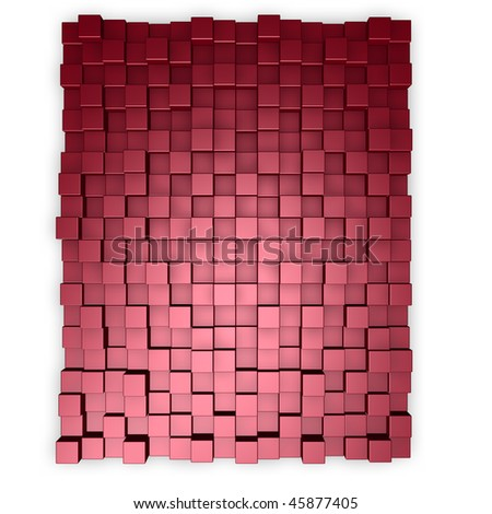 red cubes background - 3d illustration