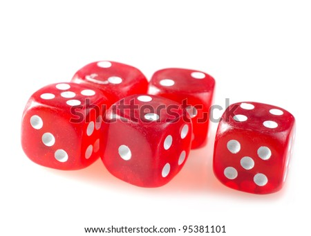 red cubes for poker #95381101