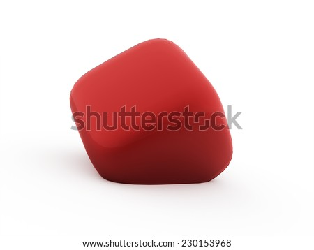 Red cubes icon concept rendered on white background #230153968