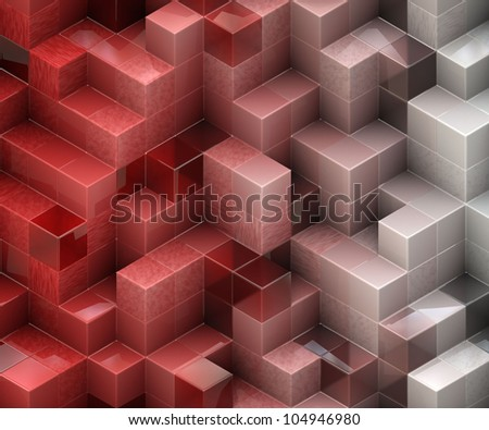 red cubes texture
