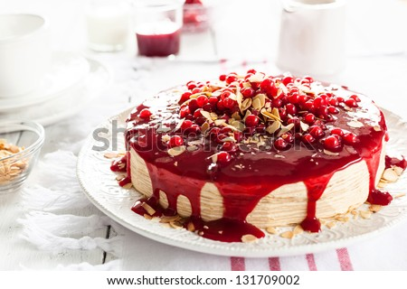 Red Currant Layer Cake