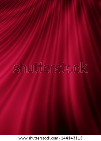 Red curtain abstract satin background