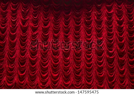 red curtain on theater or cinema