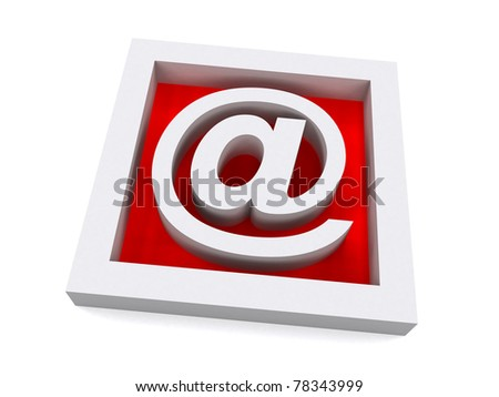 Red 3D e-mail Sign