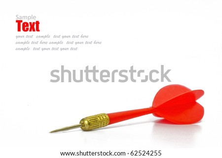 red dart isolated on white background