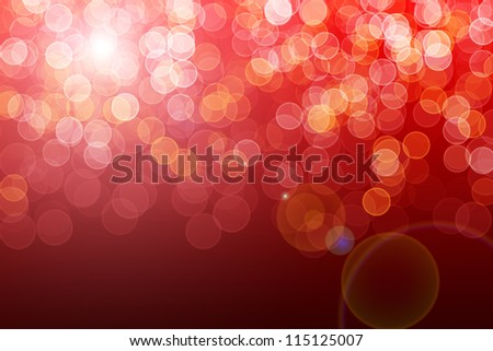 Red defocused lights