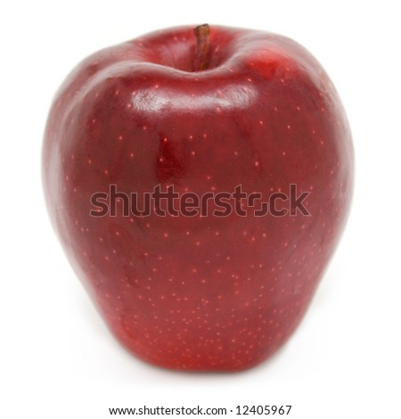 Red Delicious apple isolated on white