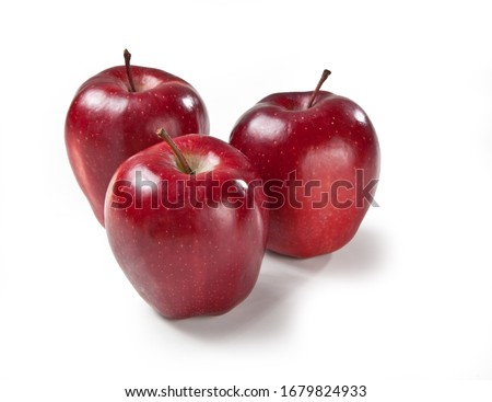 Red Delicious apple isolated on white backgrounds Mela Stark italian food Stock photo ©