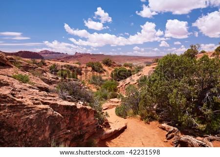 Red Desert, Arches National Park, Utah, USA