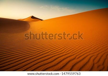 Red desert sands. In Saudi Arabia