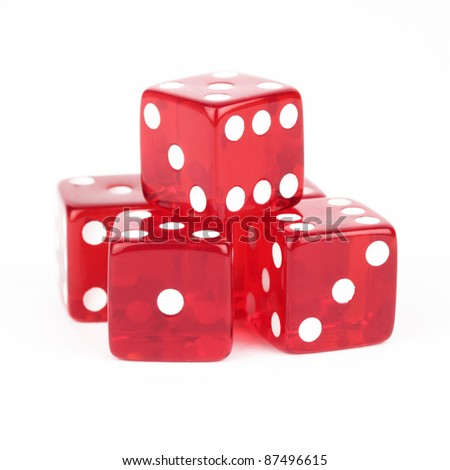 Red Dice Cutout