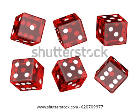 Red dices. #620709977