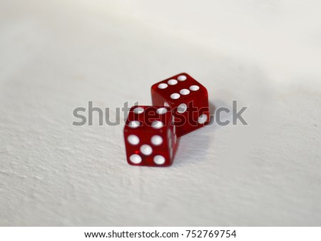 Red Dices and white background #752769754