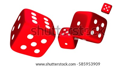 red dices cubes 3d render #585953909