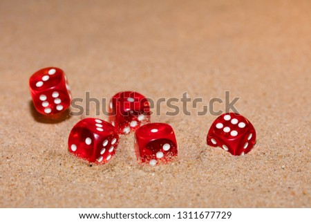 Red dices photo #1311677729