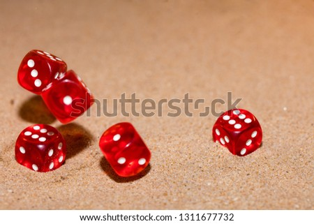 Red dices photo #1311677732
