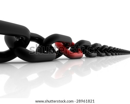 Red different link - stock photo