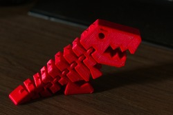 Red dinosaur toy 3D printing