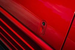 Red Door Shiny, Detail, lock, sport car.