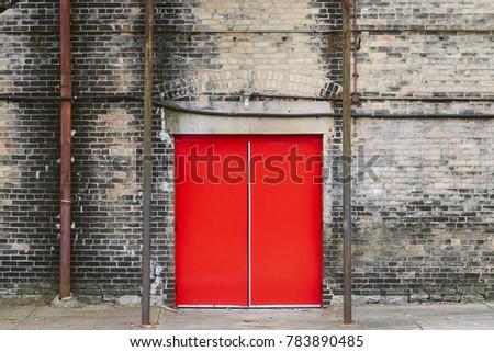 Red Door Urban Background