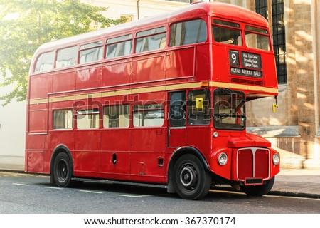 Red Double Decker Bus in London, UK