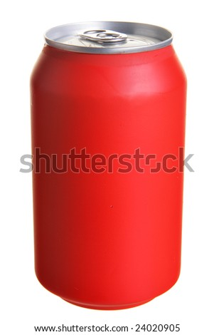 Red drink can isolated over white background